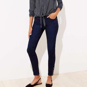 NWT LOFT Snap Hem Skinny Jeans